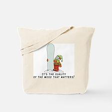 Funny Snowboarding Tote Bag