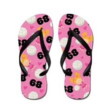 Volleyball Player Number 68 Flip Flops
