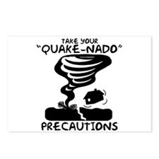 Take Your Quake-Nado Precautions Postcards (Packag