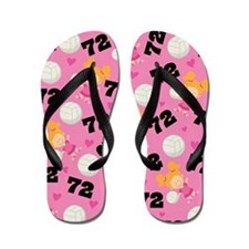 Volleyball Player Number 72 Flip Flops