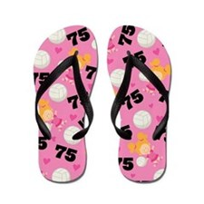 Volleyball Player Number 75 Flip Flops