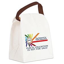 NPE Tshirt: Public Ed NFS Canvas Lunch Bag