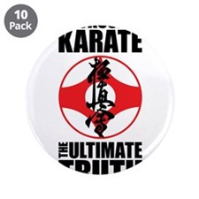 """Kyokushin karate 2 3.5"""" Button (10 pack)"""