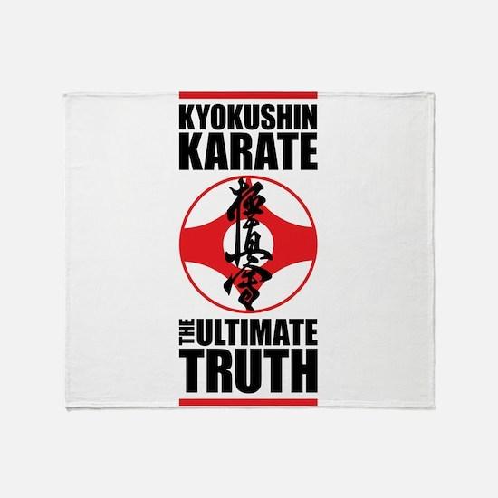 Kyokushin karate 2 Throw Blanket