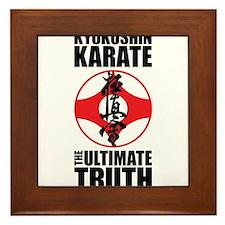 Kyokushin karate 2 Framed Tile