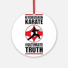 Kyokushin karate 3 Ornament (Round)