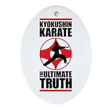 Kyokushin karate 3 Ornament (Oval)