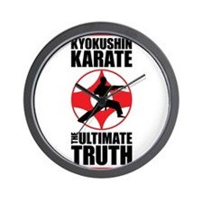 Kyokushin karate 3 Wall Clock