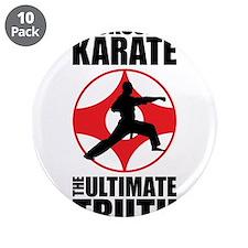 """Kyokushin karate 3 3.5"""" Button (10 pack)"""
