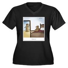 Cute Lumber Women's Plus Size V-Neck Dark T-Shirt