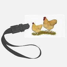 Orpington Lemon Cuckoo Chickens Luggage Tag