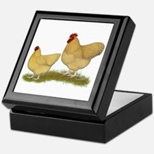 Orpington Lemon Cuckoo Chickens Keepsake Box