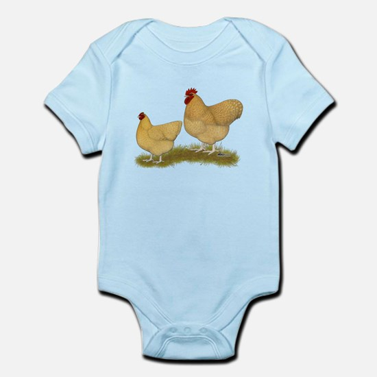 Orpington Lemon Cuckoo Chickens Body Suit