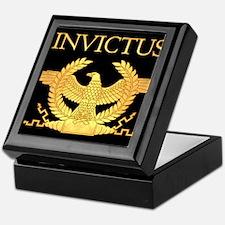 Invictus Gold Eagle on Black Keepsake Box