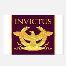 Invictus Gold Eagle on Purple Postcards (Package o