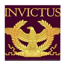 Invictus Gold Eagle on Purple Tile Coaster