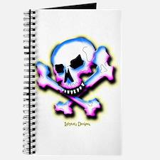 Pink and Blue Skull & Cross B Journal