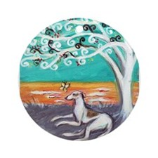 Greyhound spiritual tree Ornament (Round)