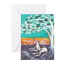 Greyhound spiritual tree Greeting Cards (Pk of 10)