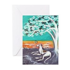Greyhound spiritual tree Greeting Cards (Pk of 20)