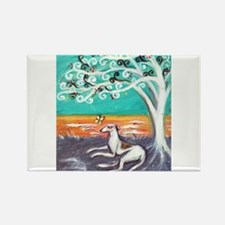 Greyhound spiritual tree Rectangle Magnet