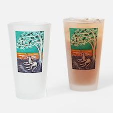Greyhound spiritual tree Drinking Glass