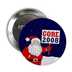 Santa Says Gore 2008! Button