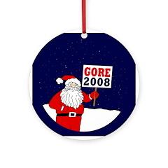 Santa Says Gore 2008! Ornament (Round)