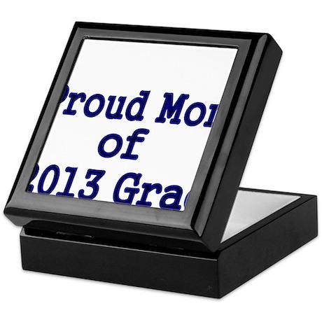 Proud Mom of 2013 Grad-Blue Keepsake Box