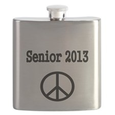 Senior 2013 with peace signs Flask