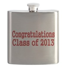 Congratulations Class of 2013-red Flask