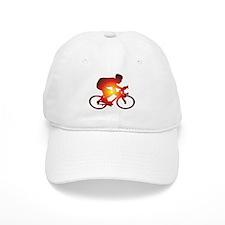 Sunset Bicycle Rider Baseball Baseball Cap