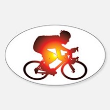 Sunset Bicycle Rider Decal