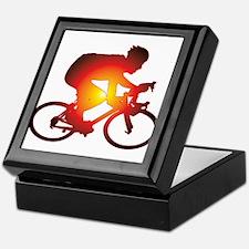 Sunset Bicycle Rider Keepsake Box