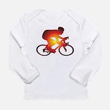 Sunset Bicycle Rider Long Sleeve T-Shirt