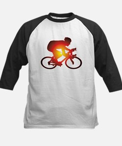 Sunset Bicycle Rider Baseball Jersey