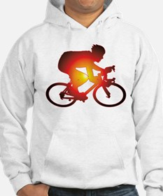 Sunset Bicycle Rider Hoodie
