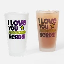 Awesome Nerds Drinking Glass