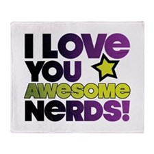 Awesome Nerds Throw Blanket