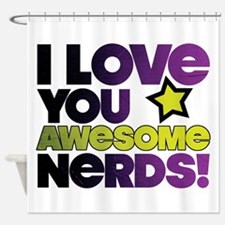 Awesome Nerds Shower Curtain