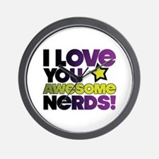 Awesome Nerds Wall Clock