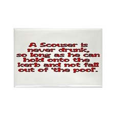 Red Scouser Never Drunk Rectangle Magnet