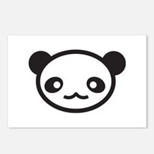Panda Face Postcards (Package of 8)