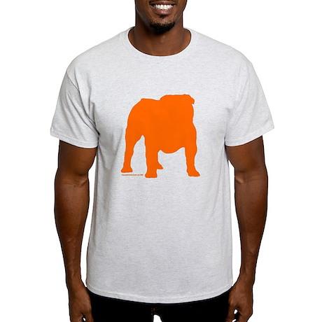 Orange Bulldog Silhoutte Ash Grey T-Shirt