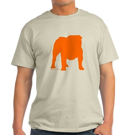 Orange Bulldog Silhoutte Ash Grey T-Shirt