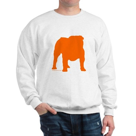 Orange Bulldog Silhoutte Sweatshirt