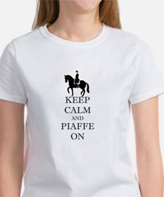 Keep Calm and Piaffe On Dressage Horse T-Shirt