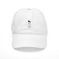 Keep Calm and Piaffe On Dressage Horse Baseball Ca