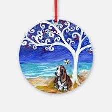 Basset Hound Spiritual Tree Ornament (Round)