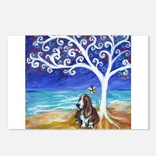 Basset Hound Spiritual Tree Postcards (Package of